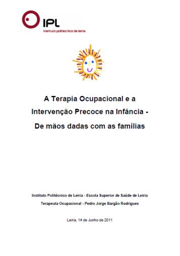 Tese - Terapia Ocupacional e a Intervenção Precoce