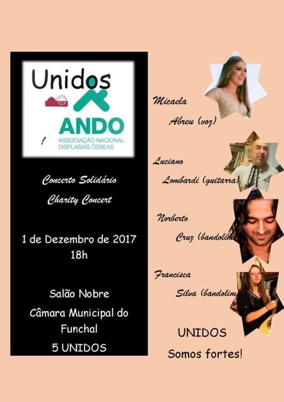 Unidos à ANDO - Concerto solidário no Funchal, Madeira, organziado pela Associação Raquel Lombardi