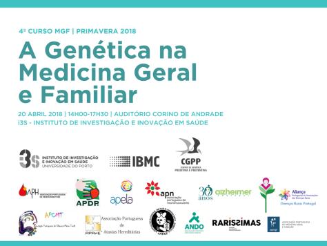 Cartaz Genética na medicina geral e familiar 20 abril 2018 i3s
